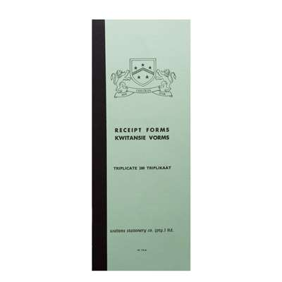 Cash Receipt Book, 111x275mm, W170A or JD412, 5 To View
