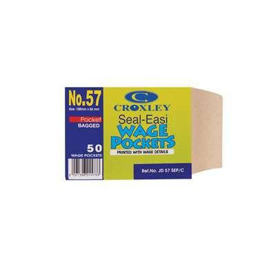 Wage Envelopes, 84x108mm, Manilla