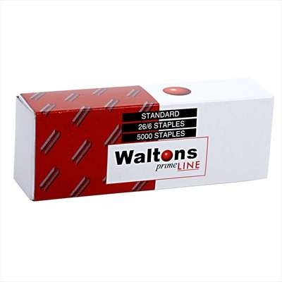 Waltons PrimeLine Staples 6mm, No.26/6, Ref: W254